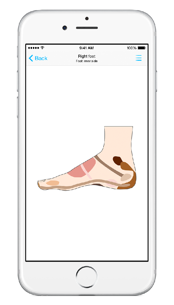 Foot massage for iPhone